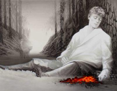 Künstler Igor Oleinikov - Dégá-vu-190-x-260-Öl-Bleistift-auf-Leinwand-2016-Galerie Hegemann