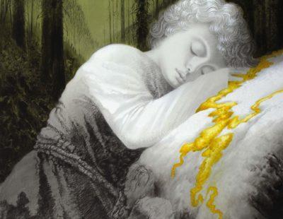 Künstler Igor Oleinikov-Herbstgold-190x170-ÖlBleistift-auf-Leinwand-2015 - Galerie Hegemann
