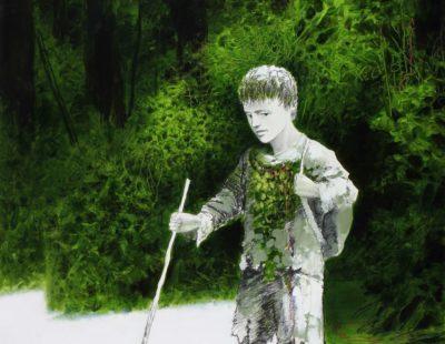 Künstler Igor Oleinikov - Wanderjahre-65x50-ÖlBleistift-auf-Papier-2016 - Galerie Hegemann