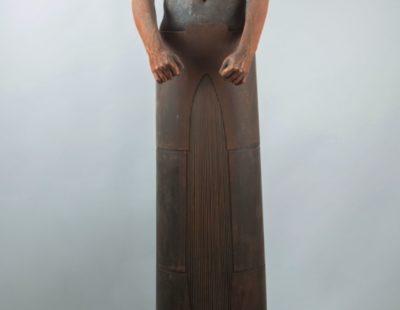 Künstler Jesús Curiá #3 - Sentinel II, 2015, Bronze und Stahl, 270 x 70 x 50 cm -Galerie Hegemann