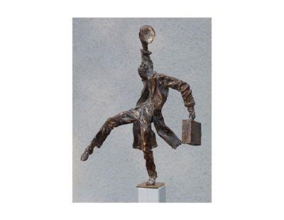 Künstler Vitali Safronov - Balance Frührentner, 2011, Bronze, 25x18x12 cm - Galerie Hegemann