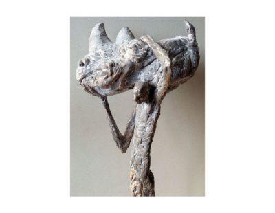 Künstler Vitali Safronov - Eiszeit Jäger, 2011, Bronze, 50x25x15 cm - Galerie Hegemann