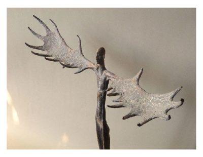 Künstler Vitali Safronov - Eiszeit Naturfürst, 2011, Bronze, 54x48 cm - Galerie Hegemann