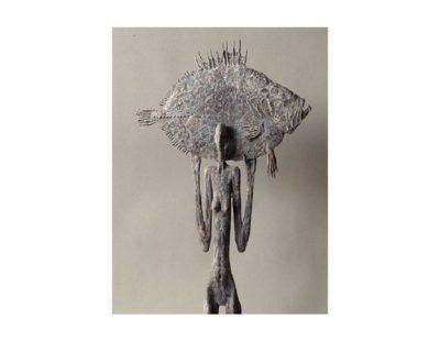Künstler Vitali Safronov - Eiszeit Vollmond, 2011, Bronze, 54x48x9 cm - Galerie Hegemann