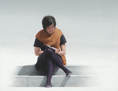 k-Künstler Nigel Cox Little-Black-Book-Oil-on-linen-91.5x-76cm-£6000 - Galerie Hegemann