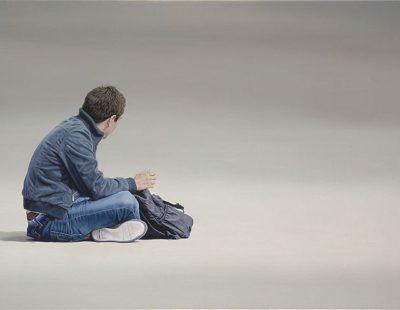 k-Künstler Nigel Cox North-Port-Sanction-Oil-on-linen-61-x-122cm-Sold - Galerie Hegemann