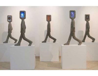 k-Künstler Tina Heuter - heuter_5maenner560 - Galerie Hegemann