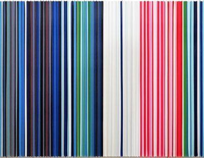 Frank Fischer, In Blue II (after Wassily Kandinsky), 2016, Öl auf Aluminium, 100 x 200cm -Galerie Hegemann