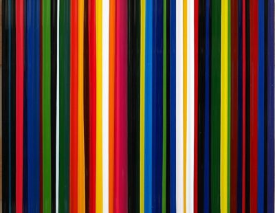 Frank Fischer, Sun City Tanning (after Henry Hudson), 2018, Öl auf Aluminium, 40 x 40 cm - Galerie Hegemann
