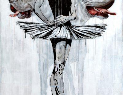 Maayke Schuitema, Hecate, 2017, Mixed Media auf Leinwand, 230 x 160 cm -Galerie Hegemann