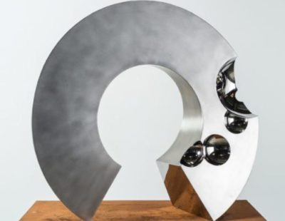 Ronald A. Westerhuis, Circle of Life, 2017 Edelstahl, 100 x 100 x 40 cm - Galerie Hegemann