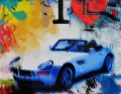 PAUL THIERRY, I love Z8, 2018, MT auf Leinwand, Acrylglas, 50 x 50 cm - Galerie Hegemann