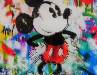 PAUL THIERRY, Mickey Love, 2017, MT auf Leinwand, Acrylglas, 50 x 50 cm - Galerie Hegemann