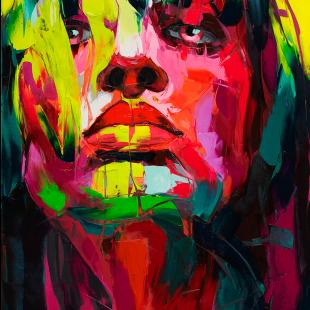 FRANÇOISE NIELLY, La Diabolique, 2019, Fine Art Print auf Leinwand, Kunstharz, 146 x 97 cm - Galerie Hegemann