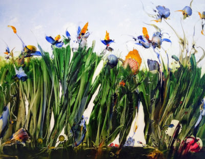 GERHARD NEUMAIER Am Rande vom Blocksberg, 2015, Öl auf Simopor, 70 x 70 cm - Galerie Hegemann