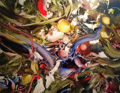 GERHARD NEUMAIER Und hier ist alles sagenhaft, 2018, Öl auf Simopor, 60 x 84 cm - Galerie Hegemann