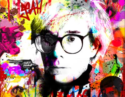 PAUL THIERRY Andy Warhol, 2019, Monotypie auf Leinwand, Acrylglas, 140 x 140 cm - Galerie Hegemann