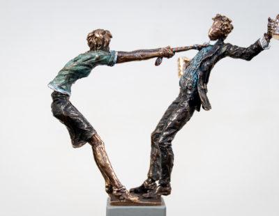 VITALI SAFRONOV Die Maß-Balance, 2019, Bronze, 19 cm - Galerie Hegemann