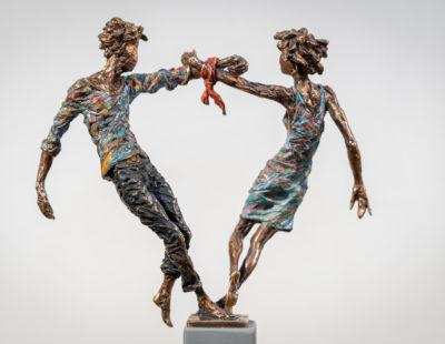 VITALI SAFRONOV Liebespaar, 2018, Bronze, 20 cm - Galerie Hegemann