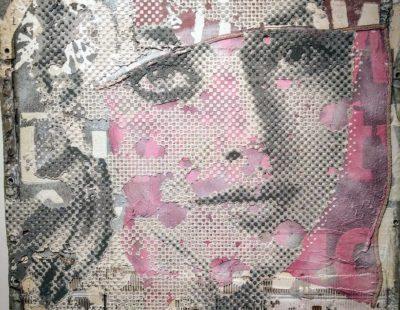 PATRIZIA CASAGRANDA Shades of grey, 2019, Collage, Mischtechnik auf Leinwand, 100 x 95 cm - Galerie Hegemann