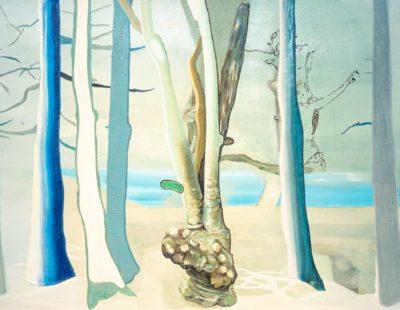 UDO DZIERSK Blutrot, 2010, Öl auf Leinwand, 50 x 70 cm - Galerie Hegemann