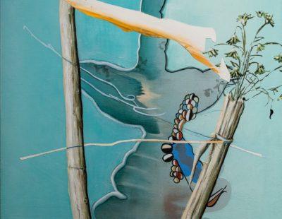 UDO DZIERSK Der Moment gilt, Italien, 2011, Öl auf Leinwand, 70 x 60 cm - Galerie Hegemann
