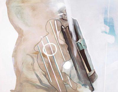 UDO DZIERSK In Ewigkeit verbunden, 2015, Öl auf Leinwand, 70 x 90 cm - Galerie Hegemann