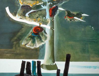 UDO DZIERSK Was sich sucht, 2012, Öl auf Leinwand, 70 x 60 cm - Galerie Hegemann