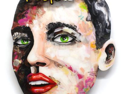 PEINTRE X Believe 11, Acryl auf Holz, Neon, 105x79 - GALERIE HEGEMANN