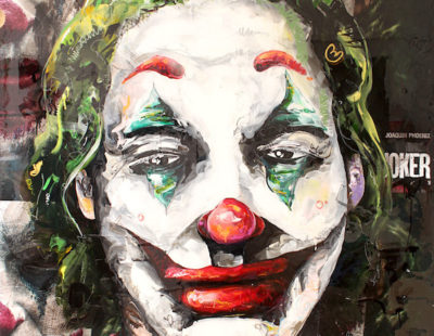 PEINTRE X Joker, Mischtechnik auf Leinwand, Neon, 160x130 cm - GALERIE HEGEMANN