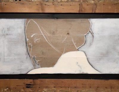 CASPER FAASSEN Cécile, Mischtechnik auf Holz, 65 x 123 cm - GALERIE HEGEMANN