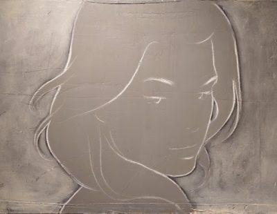 CASPER FAASSEN Pauline, 80 x 150 cm, Mischtechnik auf Leinen - GALERIE HEGEMANN