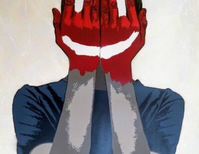 ALIAS Fake Smile, 2020, MT auf Karton, 70x50 cm, Auflage 21 - GALERIE HEGEMANN
