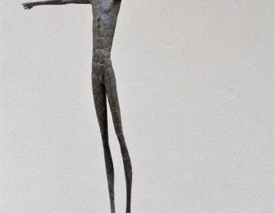 Gerald Moroder, Ich kann es schaffen (Detail Figur), Erde aus Siena, 181 cm - GELAREI HEGEMANN
