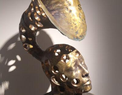 Toon Tullemans, Air, 2021, Bronze mit Stahlsockel, 180 cm - GALERIE HEGEMANN