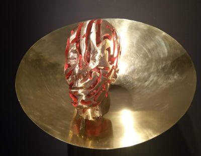 Toon Tullemans, Introspection, 2021, Bronze mit Stahlsockel, 147 cm - GALERIE HEGEMANN