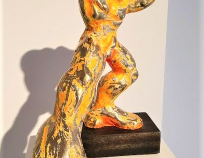 Jörg W. Schirmer Poser, 2018, Bronze, 40 cm - Galerie Hegemann