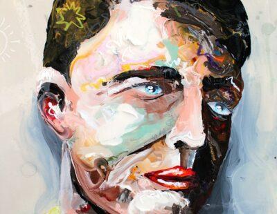 Peintre X, Ohne Titel, 2021, Acryl, Ölpastell, Resin auf Leinwand, 50 x 50 cm - Galerie Hegemann
